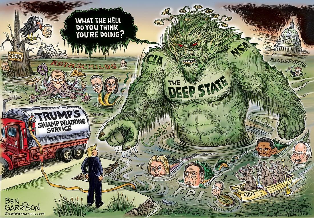 Resultado de imagen para donald trump against deep state cartoons